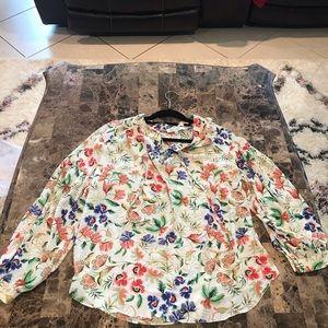 Rose+olive white blouse